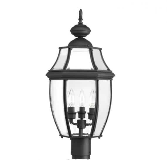 progress-lighting-p-new-haven-collection-light-textured-black-clear-beveled-glass-new-traditional-outdoor-post-lantern-light