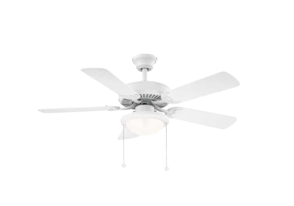 LED Matte White Ceiling Fan Hampton Bay Trice 52 in