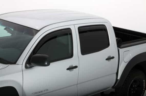 2005-2015 Tacoma Double Cab 4 Piece In-Channel Ventvisor-Smoke