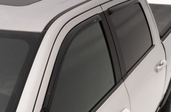 2005-2017 Frontier Crew Cab 4Pc In-Channel Vent Visors-Smoke
