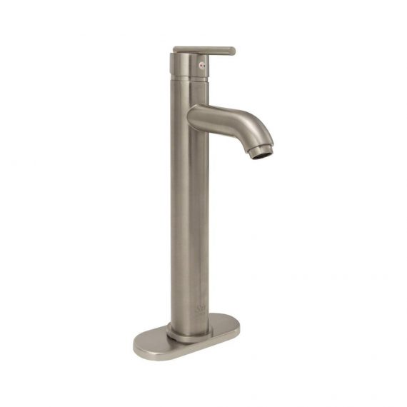 Aurora 718-BN Single Hole Single-Handle Bathroom Faucet in Brushed Nickel