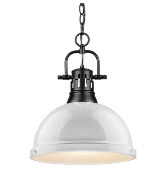 golden-lighting-l-blk-wh-duncan-light-black-pendant-and-chain-with-white-shade