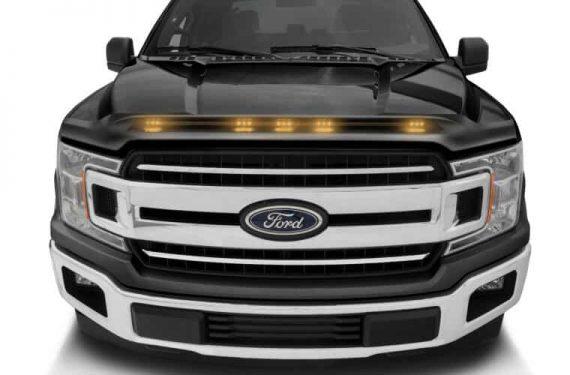 2016-2018 F150 Excludes Raptor Model Aeroskin Lightshield Color Shadow Black