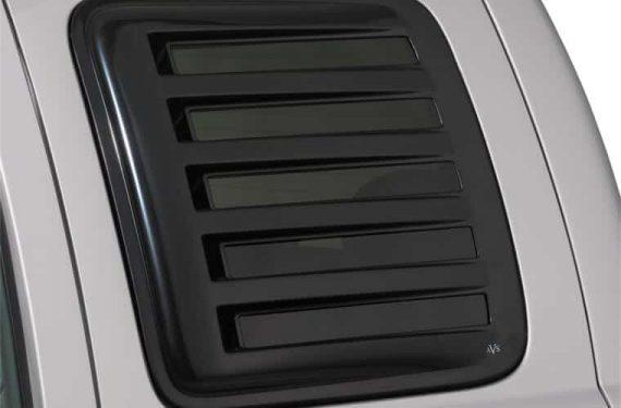 1998-2011 Ranger/1998-2010 Mazda B-Series Rear Side Window Cover-Louvered-Aeroshade-Black