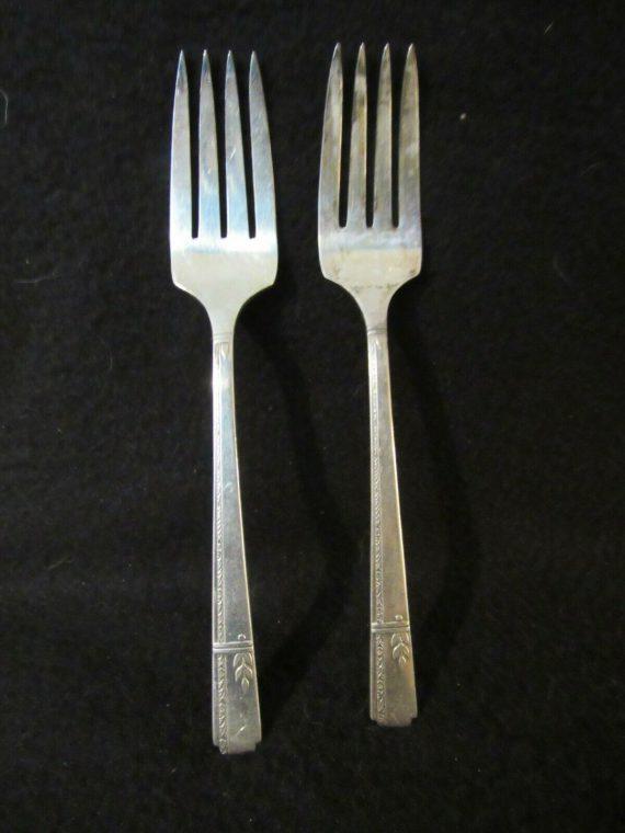 2 Salad Forks, Grenoble Silverplate   (2804)