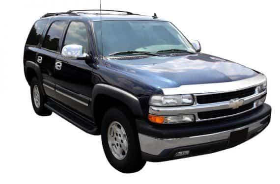 2000-2002 Silverado 1500 Aeroskin Hoodprotector-Chrome
