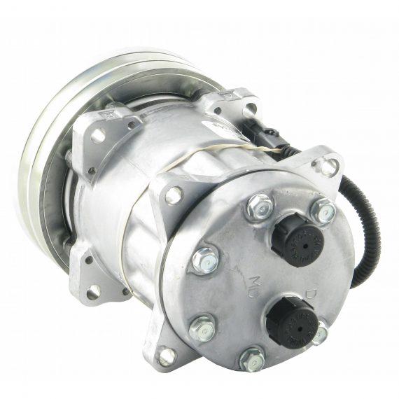hesston-fiat-windrower-genuine-sanden-sd7h15shd-compressor-w-2-groove-clutch-air-conditioner