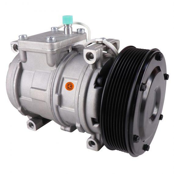 John Deere Cotton Picker Nippondenso 10PA17C Compressor, w/ 8 Groove Clutch - Air Conditioner