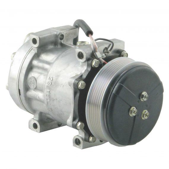 Agco Tractor Genuine Sanden SD7H15 Compressor, w/ 2 Groove Clutch - Air Conditioner