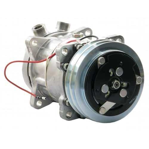 allis-chalmers-tractor-genuine-sanden-sdh-compressor-w-groove-clutch-air-conditioner