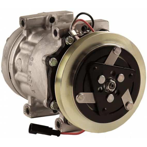 Case Backhoe Genuine Sanden SD7H15 Compressor, w/ 1 Groove Clutch - Air Conditioner
