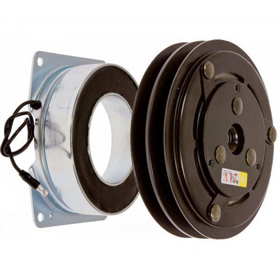 Case Backhoe Heavy Duty Compressor Clutch, York/Tecumseh ER210, ET210, w/ Coil - Air Conditioner