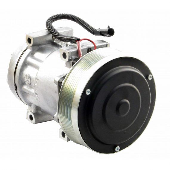 Case IH Tractor Genuine Sanden SD7H15 Compressor, w/ 8 Groove Clutch - Air Conditioner