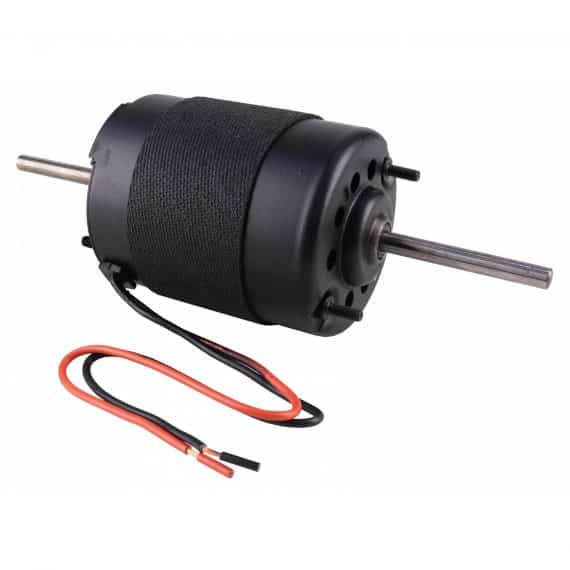 """Case Tractor Blower Motor, Dual Shaft, 5/16""""-Air Conditioner"""