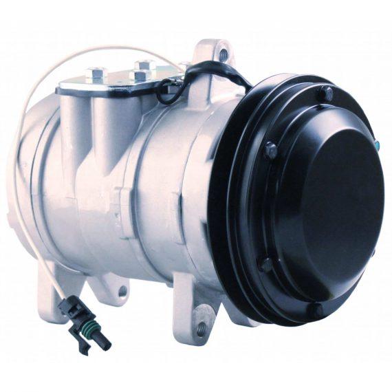 Case Tractor Nippondenso 6E171 Compressor, w/ 1 Groove Clutch - Air Conditioner