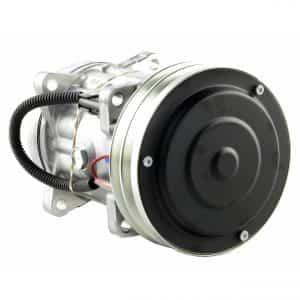 Case Wheel Loader Genuine Sanden SD7H15SHD Compressor, w/ 2 Groove Clutch - Air Conditioner