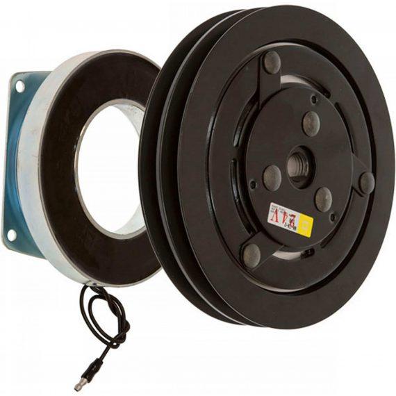 Case Wheel Loader Heavy Duty Compressor Clutch, York/Tecumseh ER210, ET210, w/ Coil - Air Conditioner
