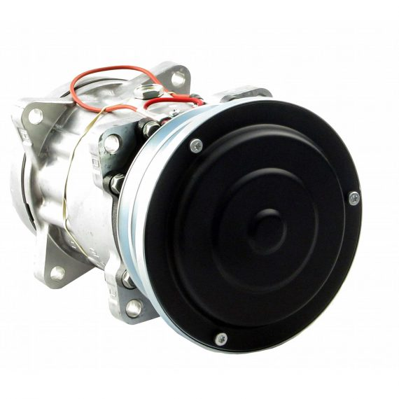 Hesston-Fiat Windrower Genuine Sanden SD7H15SHD Compressor, w/ 2 Groove Clutch - Air Conditioner