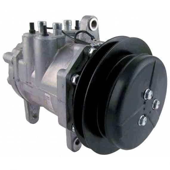 John Deere Cotton Picker Sanden Style/Denso 6E171 Compressor, w/ 1 Groove Clutch - Air Conditioner