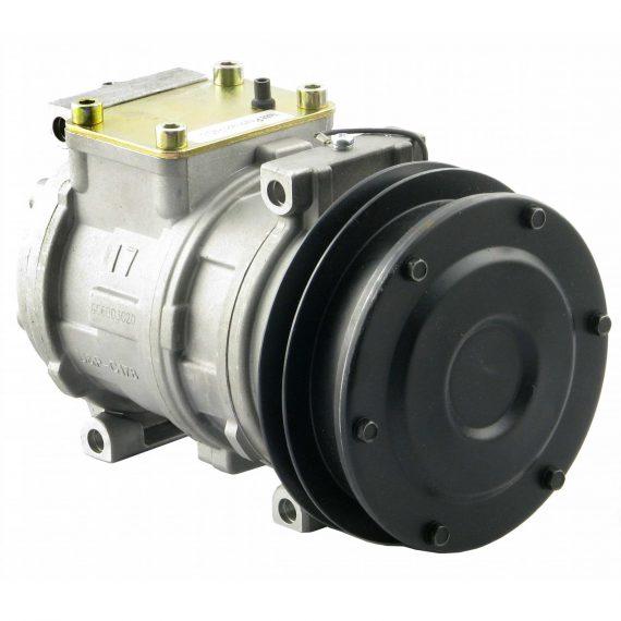 John Deere Cotton Stripper Nippondenso 10PA17C Compressor, w/ 1 Groove Clutch - Air Conditioner