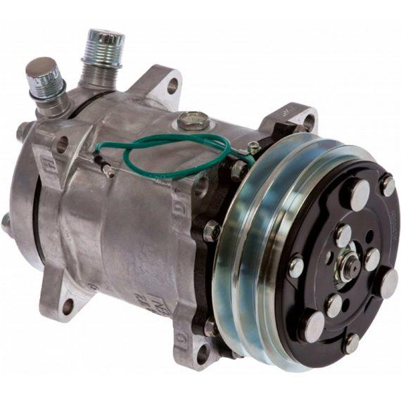 john-deere-excavator-genuine-sanden-sdhhd-compressor-w-groove-clutch-air-conditioner