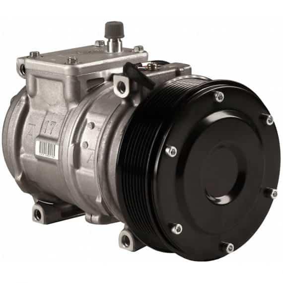 John Deere Feller Buncher Genuine Nippondenso 10PA17C Compressor, w/ 8 Groove Clutch - Air conditioner
