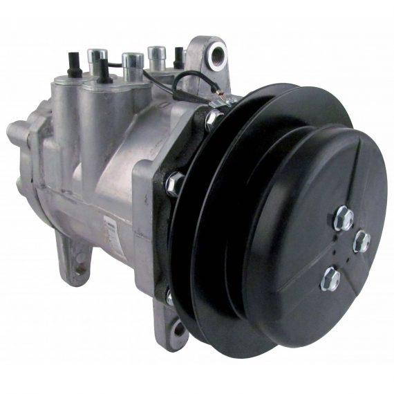 John Deere Loader Backhoe Sanden Style/Denso 6E171 Compressor, w/ 1 Groove Clutch - Air Conditioner