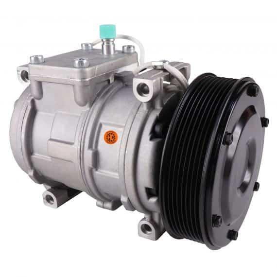 John Deere Cotton Picker Nippondenso 10PA17C Compressor, w/ 1 Groove Clutch - Air Conditioner