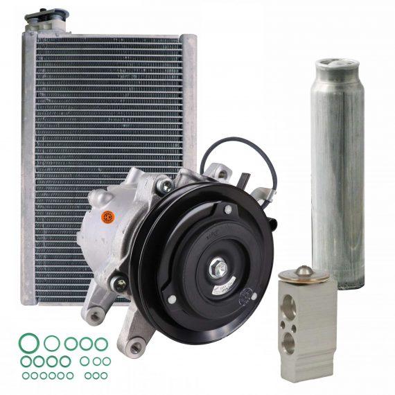 Kubota Tractor Compressor, Drier Valve & Evaporator Kit - Air Conditioner