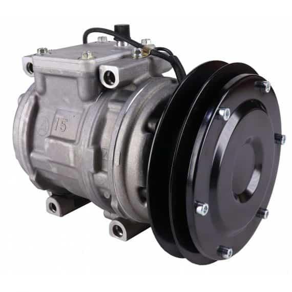 Kubota Tractor Genuine Nippondenso 10PA15C Compressor, w/ 1 Groove Clutch - Air Conditioner