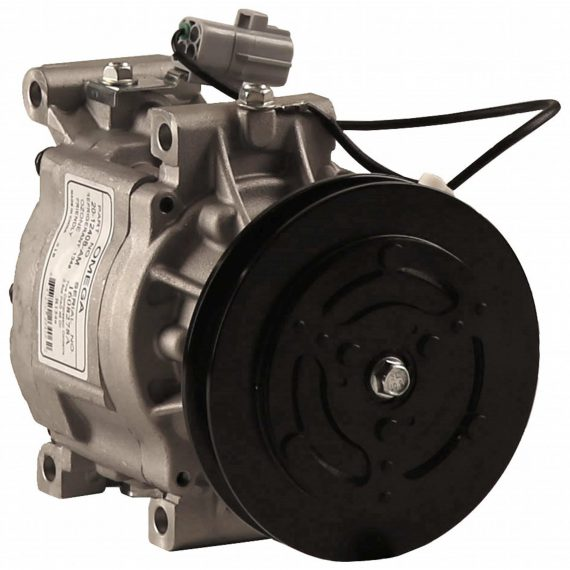 Kubota Tractor Nippondenso SCS06 Compressor, w/ 1 Groove Clutch - Air Conditioner
