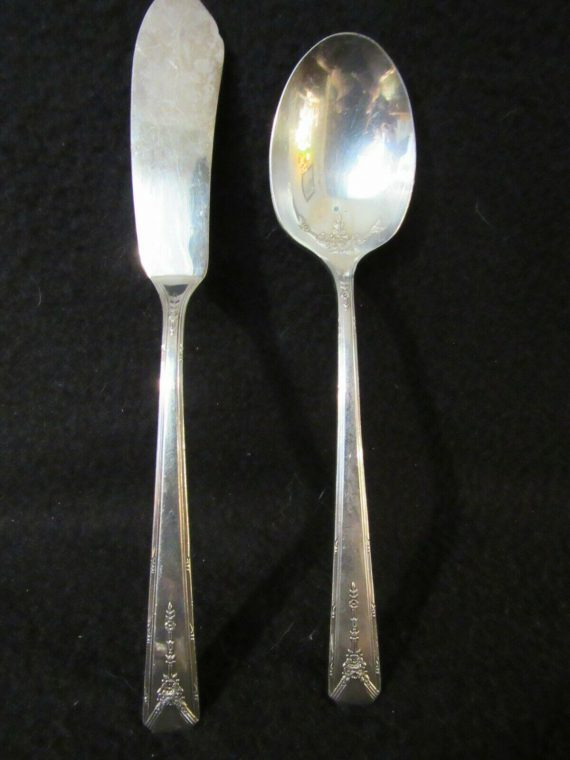 Master Butter Knife and Sugar Spoon, Milady Silverplate   (2803)