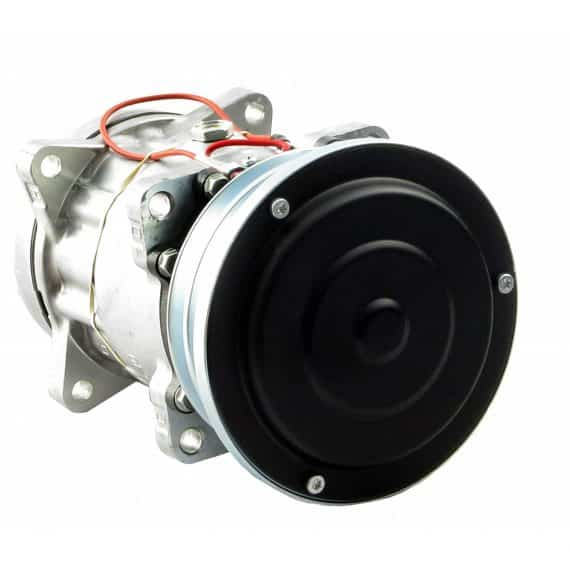 New Holland Combine Genuine Sanden SD7H15SHD Compressor, w/ 2 Groove Clutch - Air conditioner