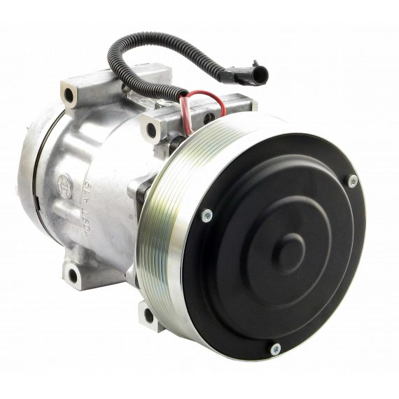New Holland Combine Sanden SD7H15 Compressor, w/ 8 Groove Clutch - Air Conditioner