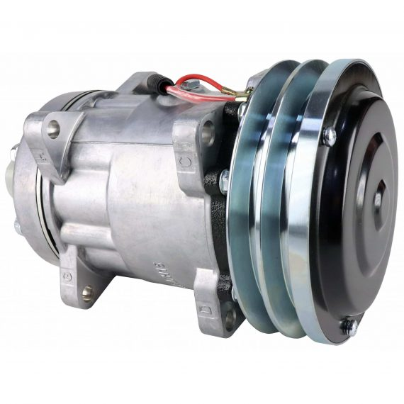 New Holland Crawler/Dozer Sanden SD7H15SHD Compressor, with 2 Groove Clutch - Air Conditioner