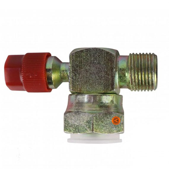 """SpraCoupe Sprayer Male Insert O-Ring Fitting, Tube-O, #8 (3/4"""") Hose w/ 134A Charge Port - Air Conditioner"""