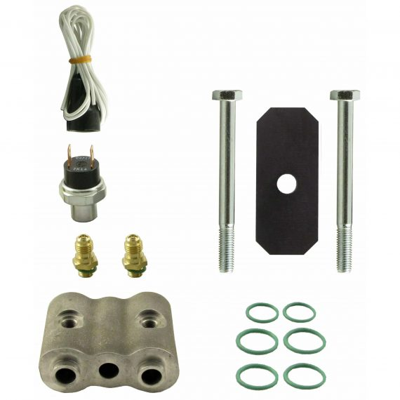 """Allis Chalmers Tractor High-Low Binary Pressure Switch Kit, Single Switch, 2"""" Spacer - Air Conditioner"""