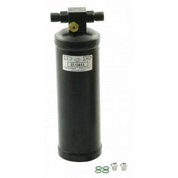 International Combine Receiver Drier, w/ High Pressure Relief Valve & Female Switch Port - Air Conditioner