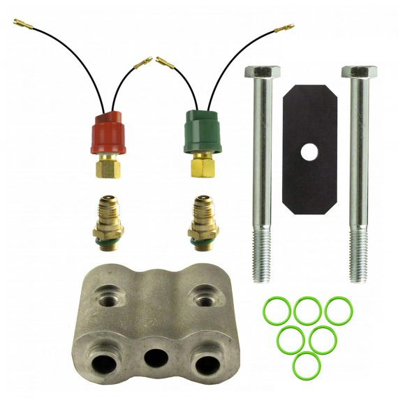 """John Deere Combine Dual High & Low Pressure Switch Kit, w/ 2"""" Spacer-Air Conditioner"""