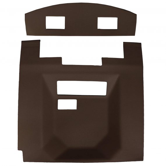 John Deere Cotton Stripper Headliner, Sailcloth Tan Vinyl w/ Formed Plastic-Air Conditioner