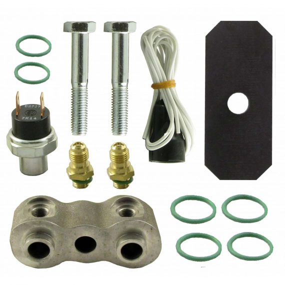 """John Deere Tractor High-Low Binary Pressure Switch Kit, Single Switch, 3/4"""" Spacer - Air Conditioner"""