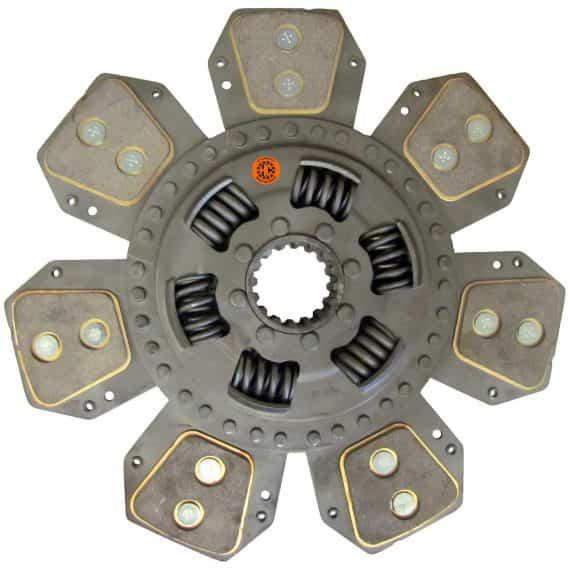 Case IH Tractor 12-1/4″ Transmission Disc, 7 Pad, w/ 1-3/4″ 16 Spline Hub – Reman – F87575335