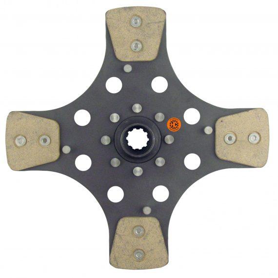 Case IH Tractor 11″ Transmission Disc, 4 Pad, w/ 1″ 10 Spline Hub – New – F5176450