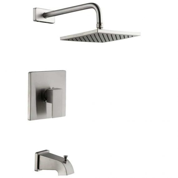 Glacier Bay Marx 1002242999 Single-Handle 1-Spray Tub and Shower Faucet in Brushed Nickel