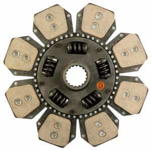 Hesston-Fiat Tractor 13-3/4″ Transmission Disc, 8 Pad, w/ 2″ 18 Spline Hub – New – H5123062N