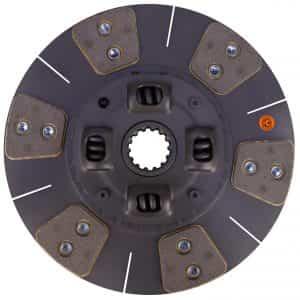 Kubota Tractor 14″ Transmission Disc, 6 Pad, w/ 1-9/16″ 14 Spline Hub – Reman – K33980-25130