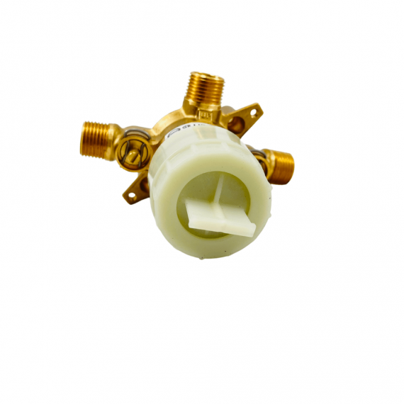 MOEN U130CIS M-CORE 3-Series 1/2 in. 3 Port Shower Mixing Valve with CC/IPC Connections and Stops