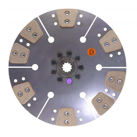 International Tractor 14″ Transmission Disc, 8 Pad, w/ 1-3/16″ 11 Spline Hub – New – 67600 PL8